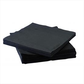 BLACK COCKTAIL NAPKINS X 2400
