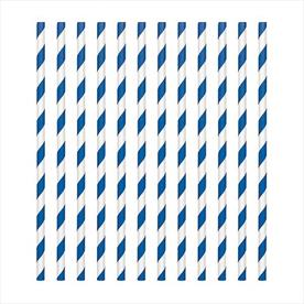 CANDY STRAWS BLUE AND WHITE 8 INCH Pack 250