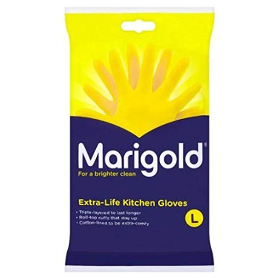 MARIGOLD LARGE GLOVES (6 PAIRS)