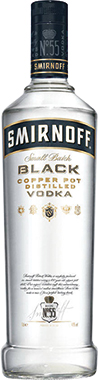 SMIRNOFF BLACK VODKA 70CL
