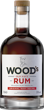 WOOD OLD NAVY RUM 70CL