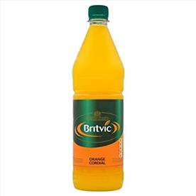 BRITVIC ORANGE CORDIAL 12 X 1LTR