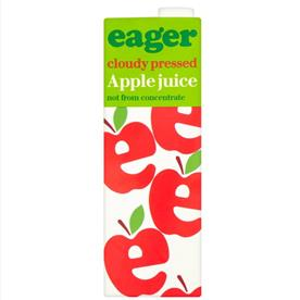 EAGER APPLE JUICE 8 X 1 LTR