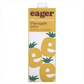 EAGER PINEAPPLE JUICE 8 X 1 LTR